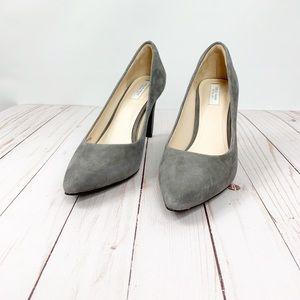EUC Cole Haan Eliza suede gray heels
